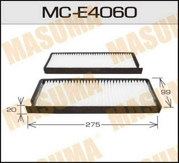 Воздушный фильтр Салонный АС-  Masuma  (1/40) SSANG YONG/ REXTON/ V2800 02-07. (MC-E4060)