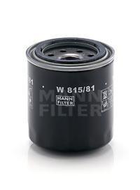 Фильтр масляный. Mann (W815/81)