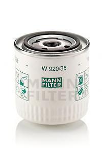 Фильтр масляный. Mann (W920/38)