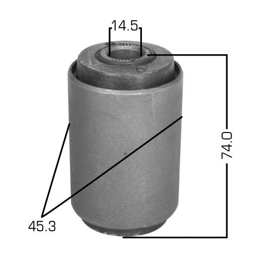 Сайлентблок  Masuma  Caldina /CT196/7/8,ET196/ Corona/Carina /C/ET176/ rear рессорa. (RU-161)