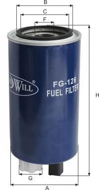 Фильтр топливный. Goodwill (FG126)