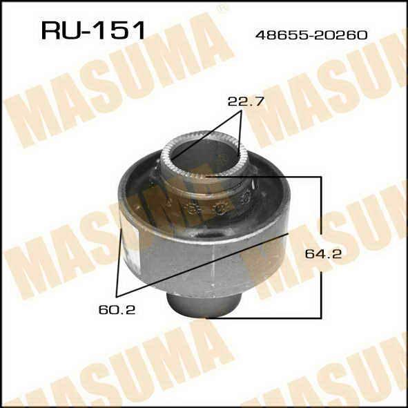 Сайлентблок  Masuma  Corona /CT/ST195/8/9/215/6/ front low R (1/90). (RU-151)
