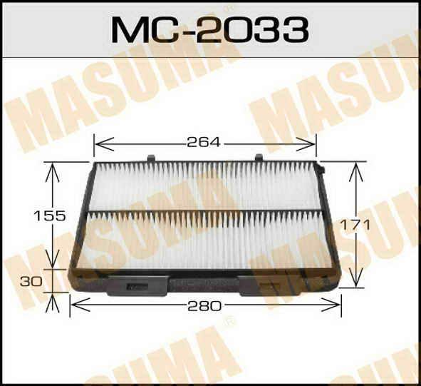 Воздушный фильтр Салонный АС-  Masuma  (1/40). (MC-2033)