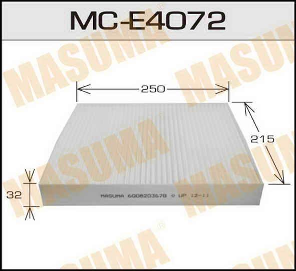 Воздушный фильтр Салонный АС-  Masuma  (1/40) SKODA/FABIA/ VOLKSWAGEN/POLO. (MC-E4072)