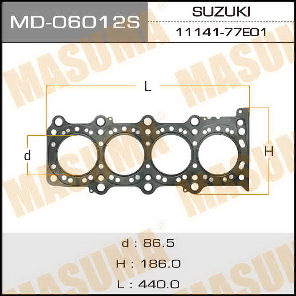 Прокладка Голов.блока  Masuma  J20A (1/10). (MD-06012S)