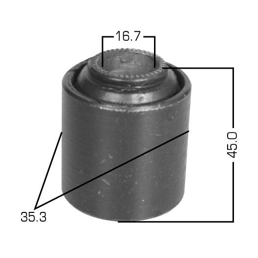 Сайлентблок  Masuma  HiAce /#H5/6/7#, 10#,111,12#,133,18#/ rear тяга Панара. (RU-170)