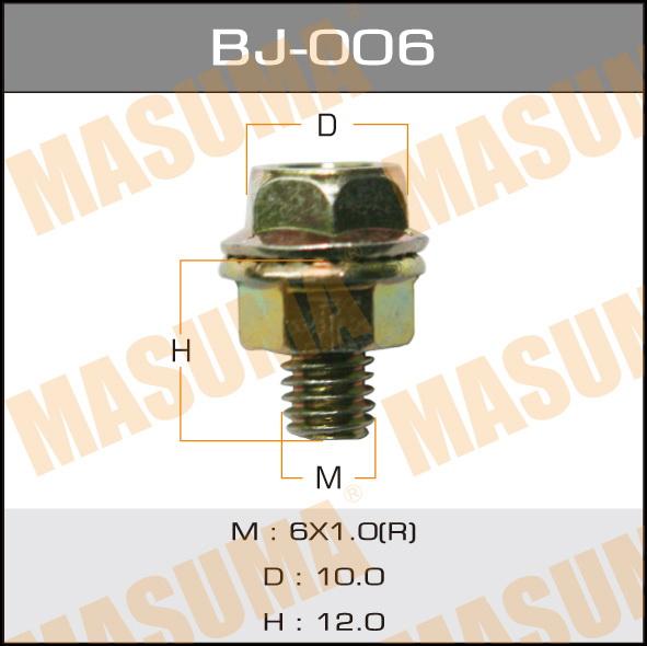 Болт с гайкой  MASUMA  М 6x12x1.0, уп.6шт. (BJ-006)