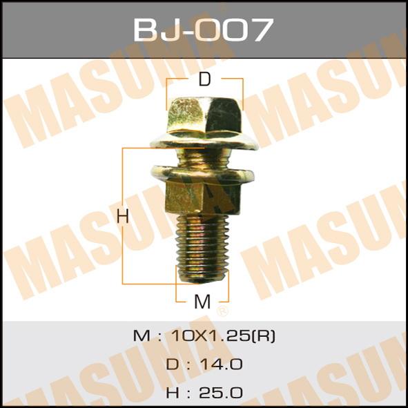 Болт с гайкой  MASUMA  М10x25x1.25, уп.2шт. (BJ-007)