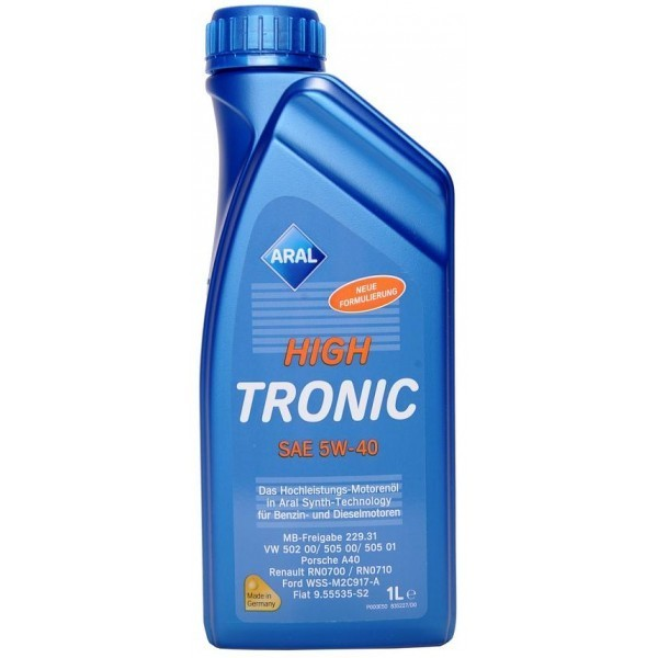 ARAL 20637 масло High Tronic 5W-40 (synt) 1л