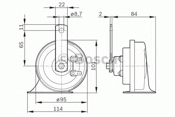 ФАНФАРА 12V WINDTONE NEW. Bosch (0986AH0505)