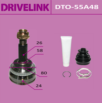 DRIVELINK DTO-55A48 ШРУС 24x58x26x48 (1/10)